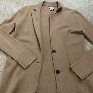 JCrew Factory XS Sweater Blazer Camel
